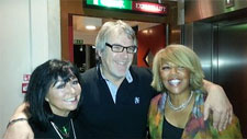 Tina Charles, Alex Dyke and Linda Lewis